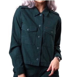 NWT Obey Noa BDU Olive Green Cropped Jacket